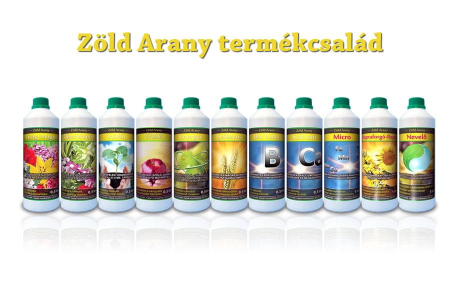Zöld Arany termékcsalád címkéi