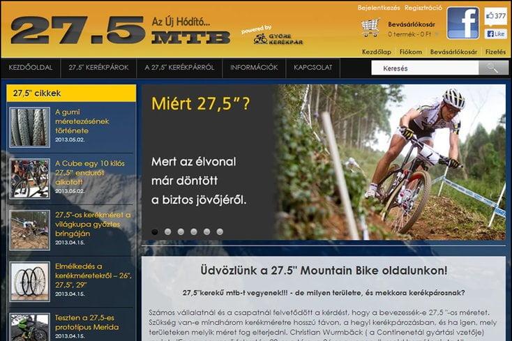 27,5″ MTB kerékpár webáruház