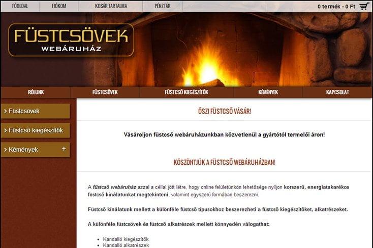 Füstcső webáruház