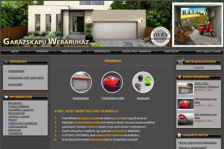 Garázskapu Webáruház