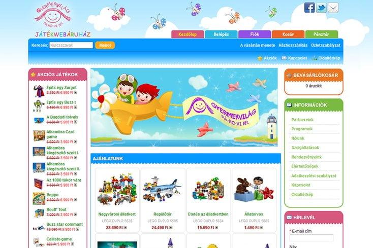 Gyermekvilág webáruház