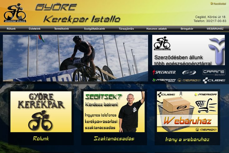 Györe Kerékpár Istálló webáruház
