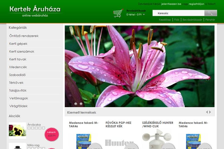 Kertek áruháza webáruház
