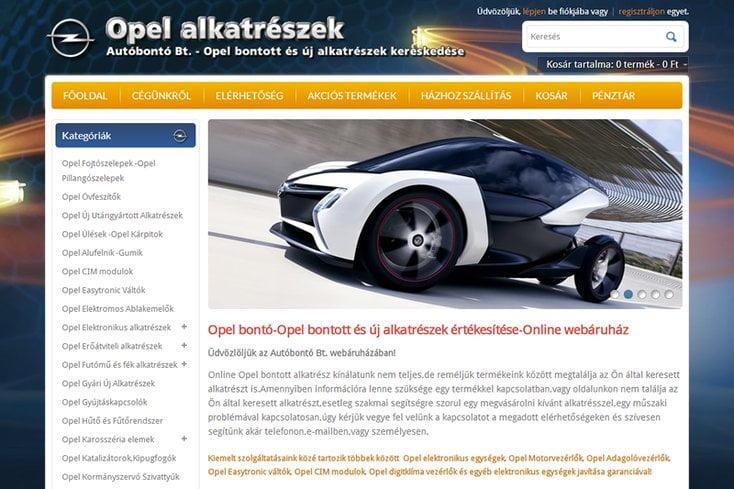 Opel-alkatrészek Autóbontó Bt