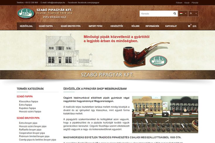 Szabó Pipa webáruház