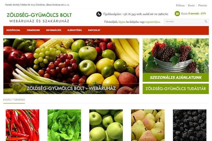 Zöldség-gyümölcs webáruház