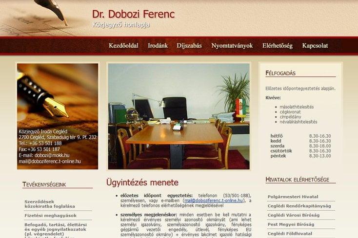 Dr Dobozi Ferenc közjegyző