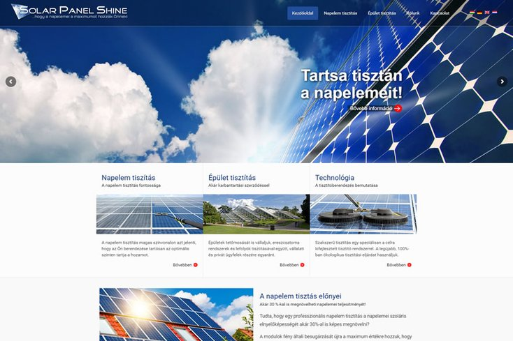 Solar Panel Shine