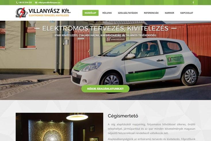 Villanyász Kft. – felújított weboldal